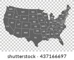 usa map with states | Shutterstock .eps vector #437166697