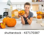 ready to halloween invasion.... | Shutterstock . vector #437170387