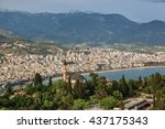 Small photo of Mosque on the background of Alania, Turkey