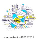 vector creative illustration of ... | Shutterstock .eps vector #437177317
