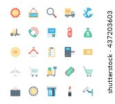 shopping  ecommerce  retail and ... | Shutterstock .eps vector #437203603