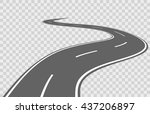 abstract winding highway road... | Shutterstock .eps vector #437206897