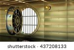 golden bank vault door. high... | Shutterstock . vector #437208133