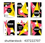 abstract background set.... | Shutterstock .eps vector #437222707
