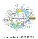 vector creative illustration of ... | Shutterstock .eps vector #437242327