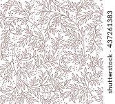 floral seamless pattern  ... | Shutterstock .eps vector #437261383
