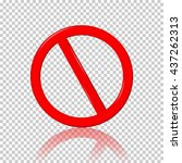 stop sign  isolated on... | Shutterstock .eps vector #437262313