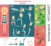 infographic  fitness and diet...   Shutterstock .eps vector #437264527