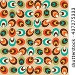 retro vintage wallpaper pattern ...   Shutterstock .eps vector #437275333