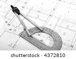 architecture blueprint document.... | Shutterstock . vector #4372810