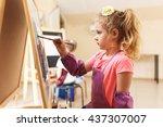 Artist School Girl Painting...
