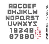 vector set of alphabet   led... | Shutterstock .eps vector #437310703