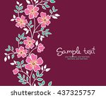 card with vertical seamless... | Shutterstock .eps vector #437325757