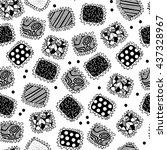 seamless pattern   chocolate... | Shutterstock .eps vector #437328967