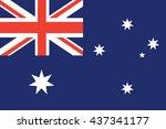 flat bahrain flag background... | Shutterstock .eps vector #437341177