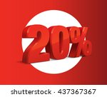 20 percent off  sale background ... | Shutterstock .eps vector #437367367