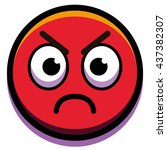 vector angry face isolated on... | Shutterstock .eps vector #437382307