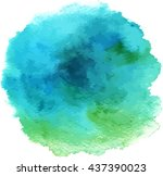 turquoise abstract watercolour...