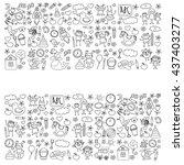 doodle vector kindergarten... | Shutterstock .eps vector #437403277