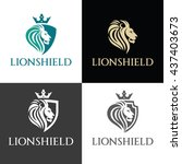 Lion Shield Logo Vector Desig...