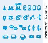 vector communication user... | Shutterstock .eps vector #437404867