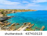 a view of beautiful sea on... | Shutterstock . vector #437410123