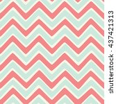 seamless wavy stripes background | Shutterstock .eps vector #437421313