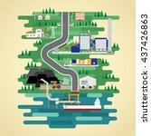 coal energy in flat design | Shutterstock .eps vector #437426863