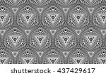 ornament with elements of black ... | Shutterstock . vector #437429617