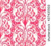ikat ogee seamless pattern   Shutterstock .eps vector #437435503
