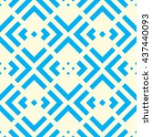 seamless pattern with symmetric ... | Shutterstock .eps vector #437440093