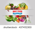vegetables and fruits | Shutterstock . vector #437452303
