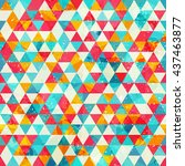 grunge triangle seamless pattern | Shutterstock .eps vector #437463877