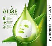 aloe vera collagen mask serum...   Shutterstock .eps vector #437463967