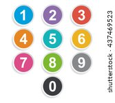 number icons colorful | Shutterstock .eps vector #437469523