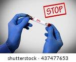 stop bph  benign prostatic... | Shutterstock . vector #437477653
