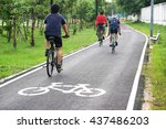 a bike lane for cyclist.... | Shutterstock . vector #437486203