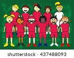 football team | Shutterstock . vector #437488093