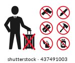 hand baggage prohibited items   ... | Shutterstock .eps vector #437491003