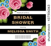 bridal shower invitation... | Shutterstock .eps vector #437506363