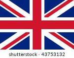 national flag united kingdom | Shutterstock . vector #43753132
