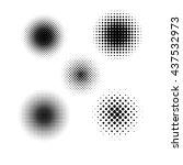 black and white halftone... | Shutterstock .eps vector #437532973