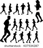 people running collection  ... | Shutterstock .eps vector #437534287