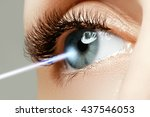 laser vision correction. woman... | Shutterstock . vector #437546053