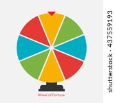 wheel of fortune  lucky icon.... | Shutterstock .eps vector #437559193