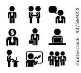 business and office people icon ... | Shutterstock . vector #437564053