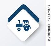 cargo truck icon | Shutterstock .eps vector #437574643