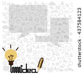 idea hand drawn on business... | Shutterstock .eps vector #437584123