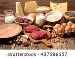 Stock photo food high in protein protein sources 437586157