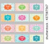 vector template business card....   Shutterstock .eps vector #437587567